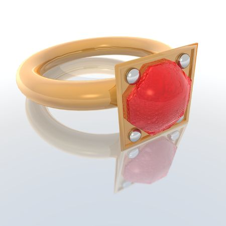 bridegrooms: a 3d render of a woman ring