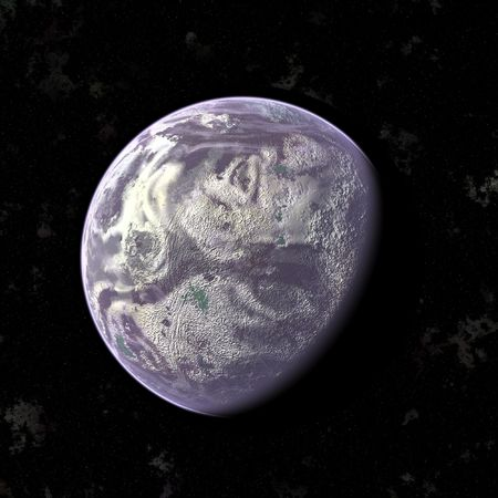 an image of a purple planet in the space photo
