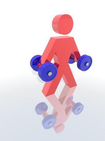 lifter: a 3d render of a weight lifter