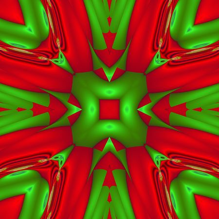calculated: abstract green and red background generated by fractals