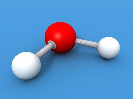hacer un 3d de una molécula de agua Foto de archivo - 2263243