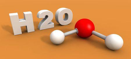 molecula de agua: un 3d rinde de una mol�cula de agua