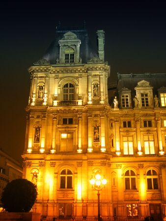 a view of a part of the parisian city hall