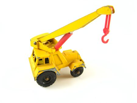 Mobile crane truck on a white background Stock Photo - 2459576