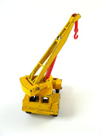 Mobile crane truck on a white background Stock Photo - 2459577