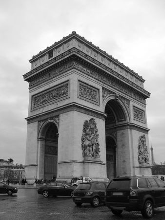 architectural detail: View of the Triump Arch at