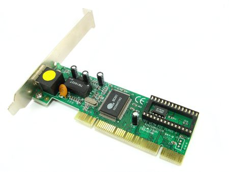 an ethernet card over a white background photo