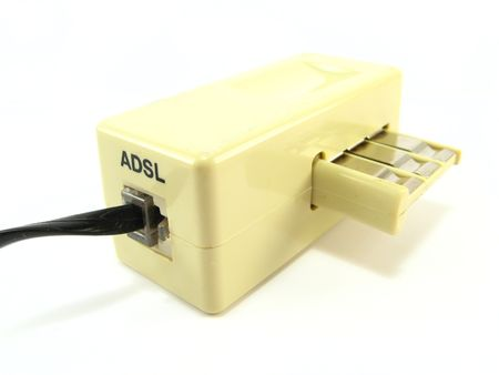 dsl: image of  DSL filter on a white background Stock Photo