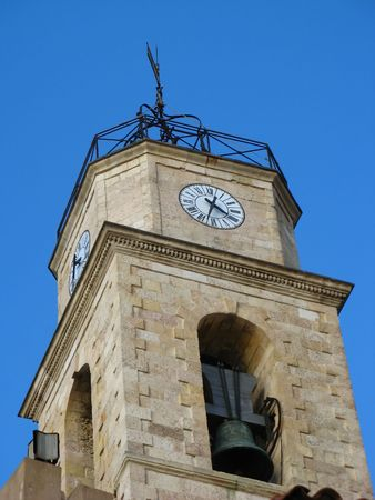 christendom: bell tower of the church of Martigues in Provence