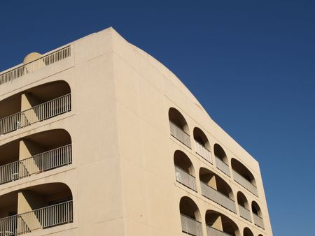 ble: residential building and blue sky on french riviera