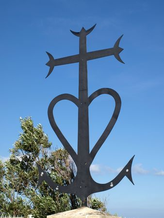 camargue: Symbolic cross of Camargue in Provence