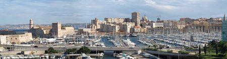 marseille: weergave van de ingang van de oude haven van Marseille Stockfoto
