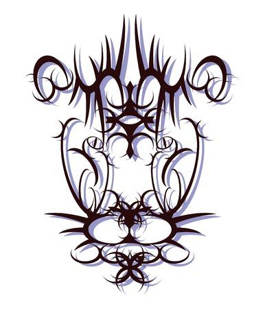 Lion Head - Tribal Art design Vector