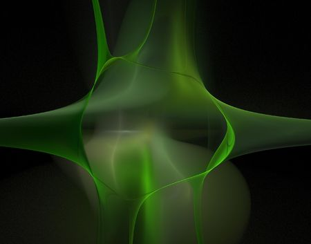 calculated: illustrations of a green abstract fractal background Stock Photo