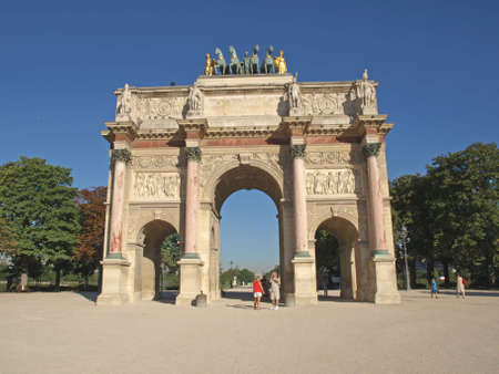 The Triump Arch at the Louvre Carrousel Square in Paris photo