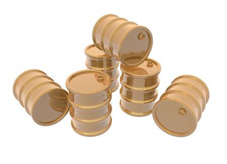 petrochemistry: una representaci�n 3D de algunos de barriles de oro
