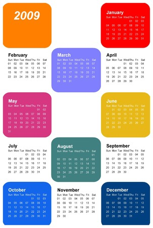 a calendar for the new year 2009 Stock Photo - 4029875