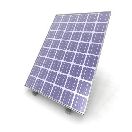 a 3D render of a solar panel Stock Photo