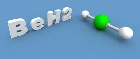 trigonal: a 3d render of a beryllium hydride molecule