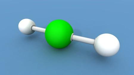 lewis: a 3d render of a beryllium hydride molecule