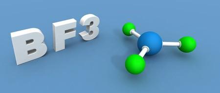 boro: A 3D hacen de trifluoruro de boro Foto de archivo