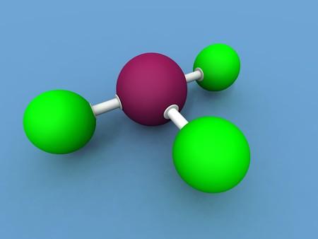 fluoride: a 3d render of a bromine fluoride