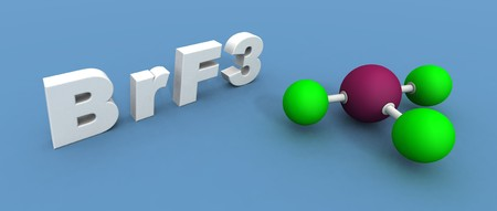 a 3d render of a bromine fluoride Stock Photo - 4454146