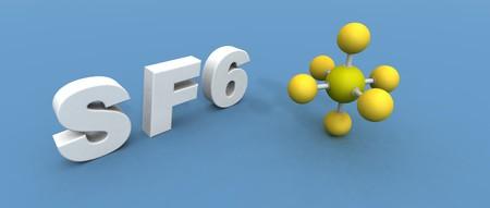 a 3d render of a sulfur hexafluoride