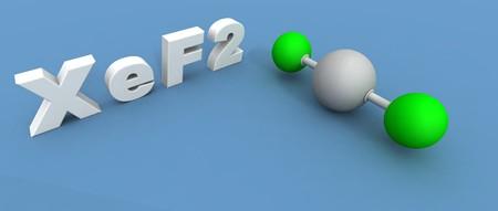 xenon: hacer un 3d de una mol�cula de xen�n Difluoruro