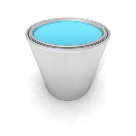 paintbucket: a 3d render of a blue paint can