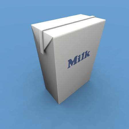 a 3d render of some milk  pack photo