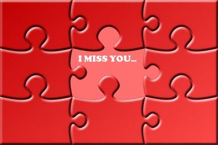 missing piece: ilustraci�n de un rompecabezas de color rojo con una pieza que falta Foto de archivo