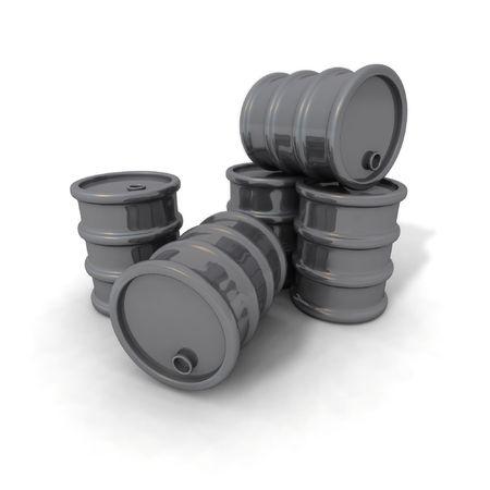 petrochemistry: una representaci�n 3D de algunos barriles gris
