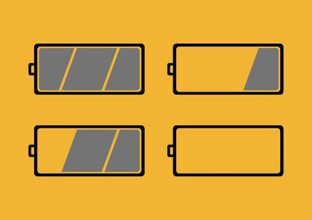 reloading: illustration shwoing different battery level symbols