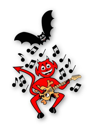 imp: Little Imp Playing Guitar