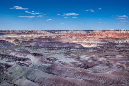 Colorful hues and formations at the Little Painted Desert - Winslow, AZ