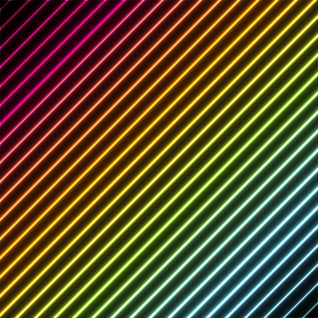 striping: Contemporary abstract background with stripes in rainbow colors with a neon glowing effect Illustration