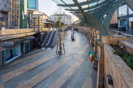 Rotterdam, the Netherlands - April 10 2020: famous shopping area in Rotterdam, where all shops are closed due to the corona virus