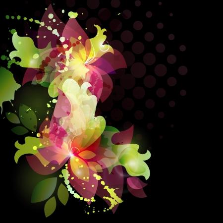 invitacion fiesta: Fondo con la tarjeta de la invitaci�n para la boda de la flor