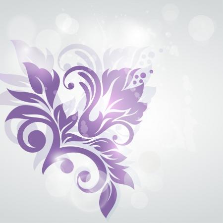 swirl backgrounds: Priorit� bassa floreale di nozze o invito con abstract flora sfondo Biglietto di auguri del modello Elegance con i fiori in carta di stile vintage per le madri giorno Vettoriali