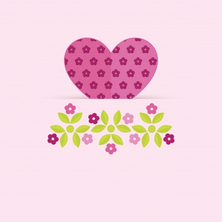 Card with heart for Valentines Day Vector