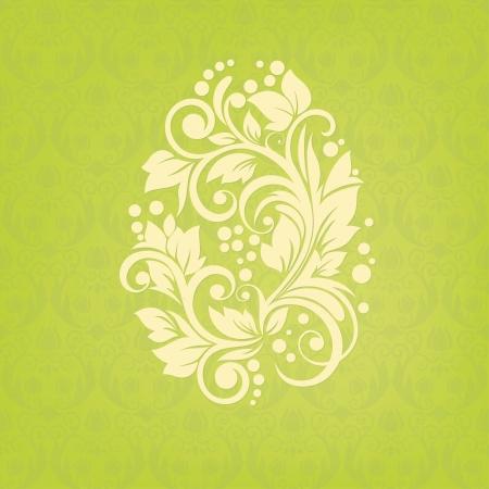 부활절 꽃 달걀 일러스트