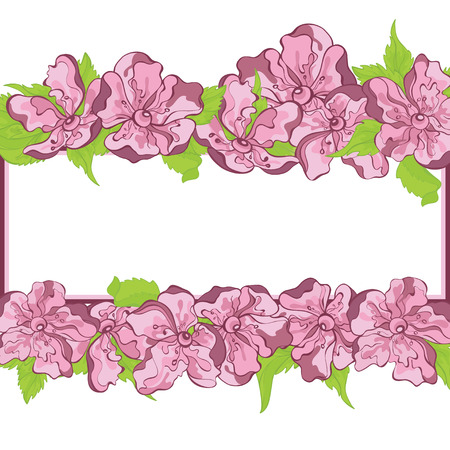 Invitation floral background with place for text Vector