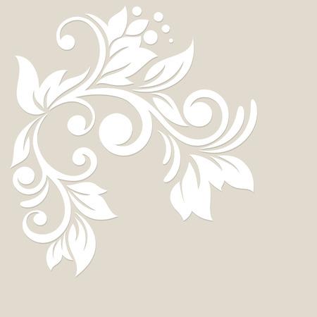 꽃 배경 웨딩 카드 또는 추상 꽃 소용돌이와 초대