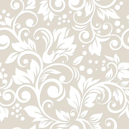 Naadloze patroon met bloemen en bladeren Floral ornament