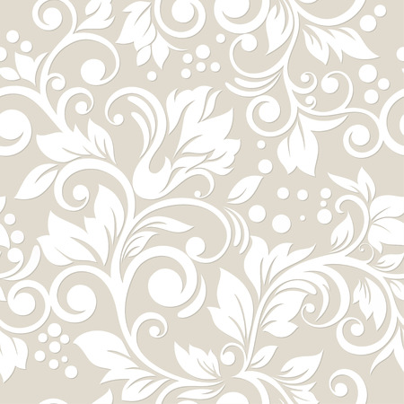 Seamless pattern with flowers and leaves  Floral ornament