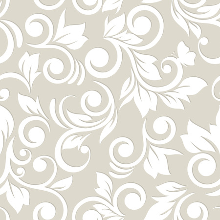 Seamless pattern with flowers and leaves  Floral ornament  Vector