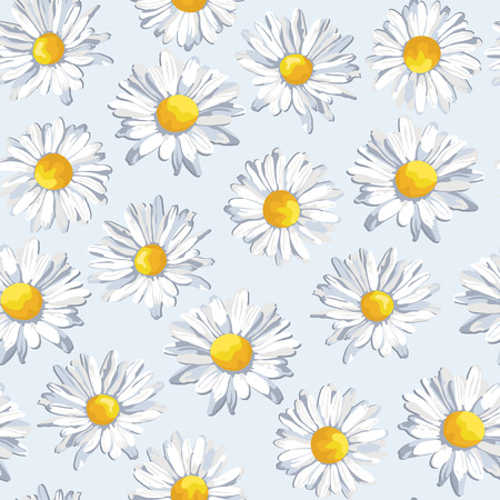 wit: seamles patern wit camomile flowers