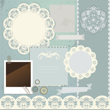 scrapbook elements: Scrapbook elements illustration