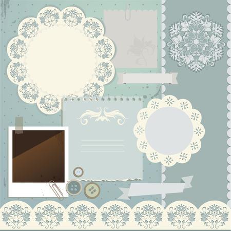 Scrapbook elements illustration